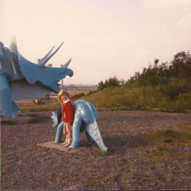 Scarlet Pink Teesaurus Park 1986